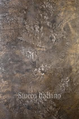 Lava Stucco with oxide metal finish