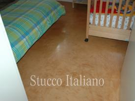 Pastellone floor in a bedroom