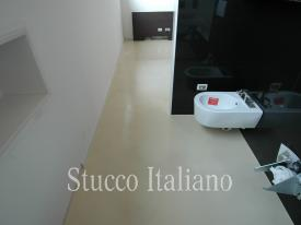 stucco floor not textured