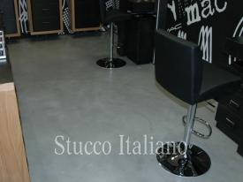 shop with flooring stucco
