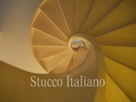 staircase in stucco