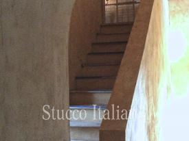 venetian marmorino plaster with rustic finish