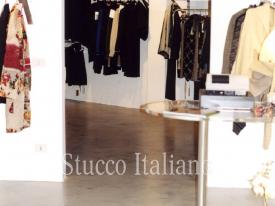beige color seamless floor in fashion shop