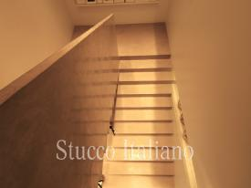 stair in flooring stucco in very light color *